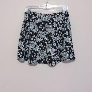 Charlotte Russe Floral Mini Flare Skirt